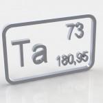 Химический элемент тантал, свойства тантала, химический знак тантала, химический символ тантала, обозначение тантала